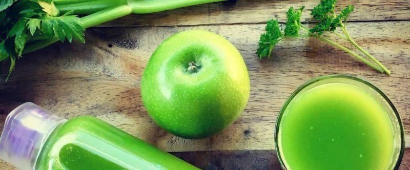 a bottle of celery juice