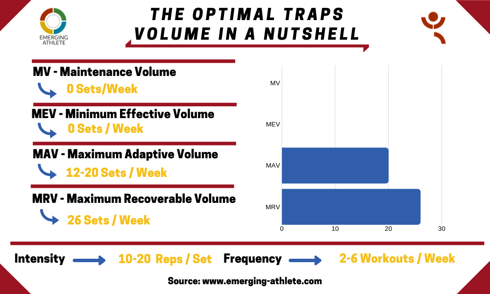 Volume table for the Optimal Traps Volume