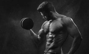 man training with optimal volume for hypertrophy