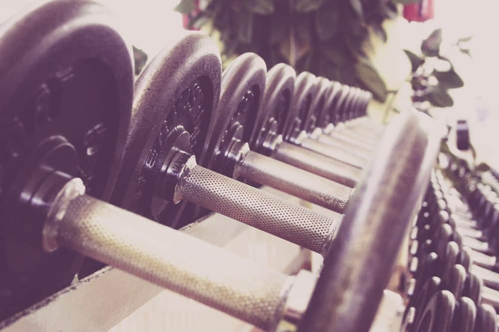 A row of dumbbells for the optimal triceps volume