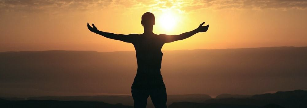 Man absorbing sunlight for Vitamin D3 intake and higher testosterone levels