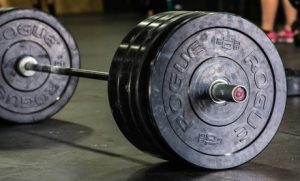 Bar with heavy weights for Wendler's 531 Training System