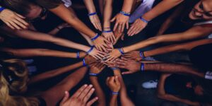 Many hands meeting in the middle
