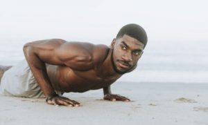 Black man doing Tabata for fitness