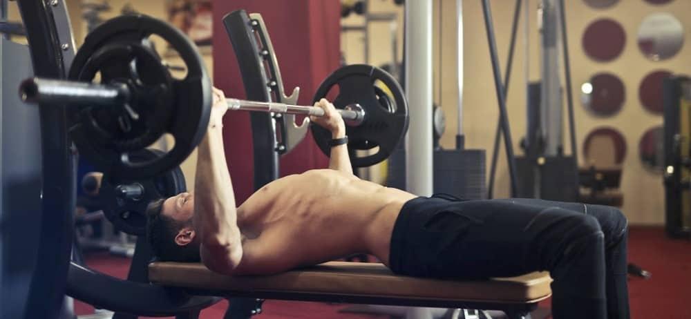 Man doing bench press