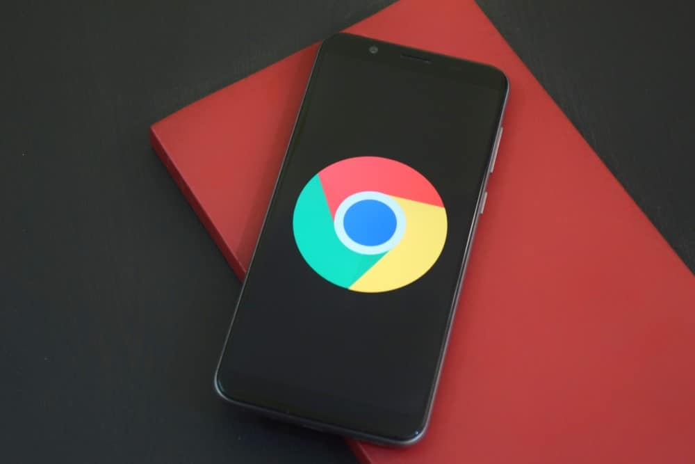 Phone with Chrome Addons for productivity