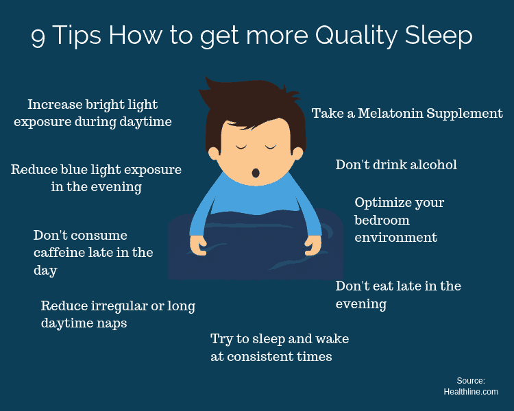 9 Tips How to get more Quality Sleep